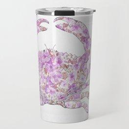 Floral Crab  Travel Mug