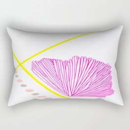 Pink, Canary Yellow, Light Peach and French Grey Abstract 1 Rectangular Pillow