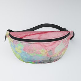 Pink textured Acrylic Abstract Fanny Pack