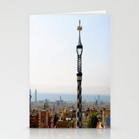 barcelona Stationery Cards featuring Barcelona by Marina Khamhaengwong
