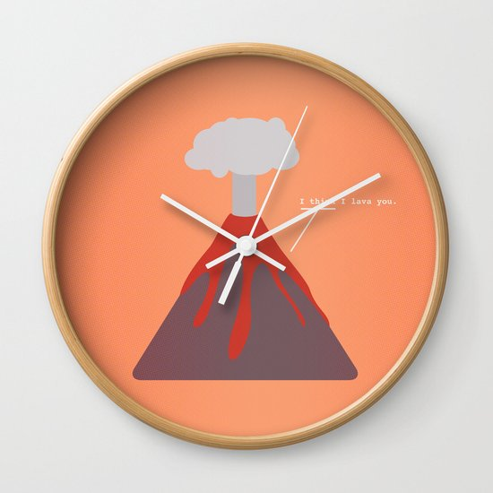 I Think I Lava You Wall Clock