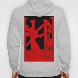 300 Red and Black Hoody