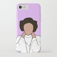 princess leia iPhone & iPod Cases featuring Princess Leia by Blancamccord