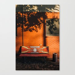 Crime Stoppers' Bench Canvas Print