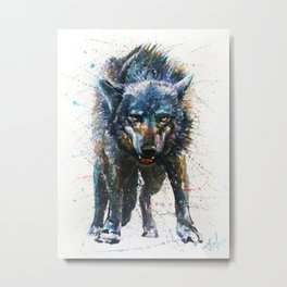 Wolf - last fight Metal Print