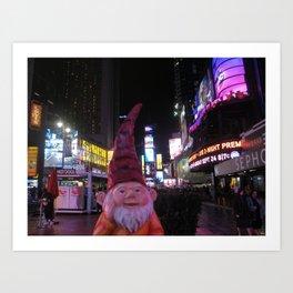 Times Square Gnome Art Print