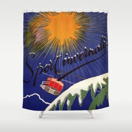 Turin Torino Italian Alps Winter Travel Shower Curtain