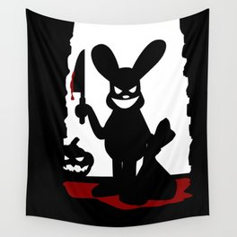 Bloody Rabbit Halloween version Wall Tapestry