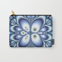 Fractality Of Blue Fractal Art Print Carry-All Pouch