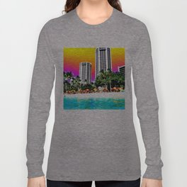 Waikiki Beach Long Sleeve T-shirt