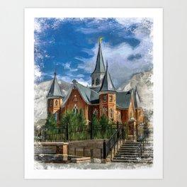 Provo City Center LDS Temple Art Print