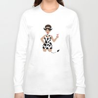 60s Long Sleeve T-shirts featuring 60s Zodiac Gals: Taurus by Skart87