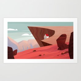 Red Rock Cliff Art Print