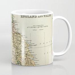 North England and Wales Vintage Map Coffee Mug