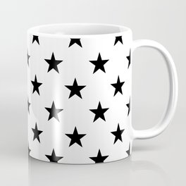 Stars (Black/White) Coffee Mug