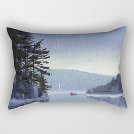 rocky cliff Rectangular Pillow