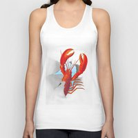 lobster Tank Tops featuring Lobster!!!!!!!!!!! by Rococco-LA