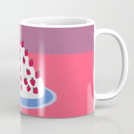 Strawberries and cream cake Coffee Mug