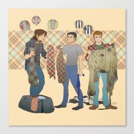 the Hunters  wear Plaid - Supernatural Canvas Print