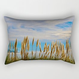 Fort Bragg's Ocean Cattails Rectangular Pillow