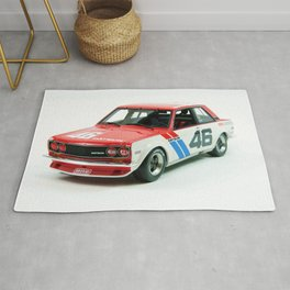 BRE Racing 510 Vintage JDM SCCA Championship Classic Automobile No. 2 Rug