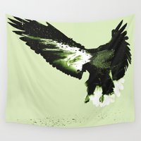 eagle Wall Tapestries featuring Eagle by Yaroslav Greben