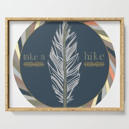 Take A Hike Serving Tray