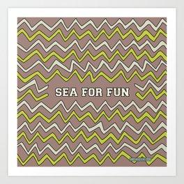 Sea for fun (brown) Art Print