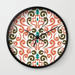 Moroccan Damask Wall Clock