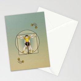Vitruvian Cyclist Stationery Cards