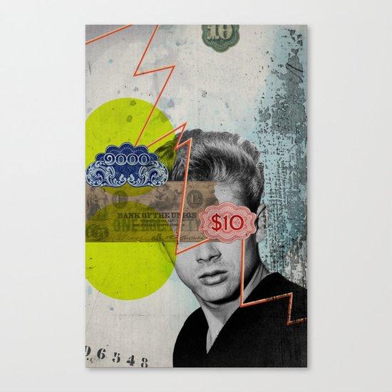 Public Figures - James Dean Canvas Print