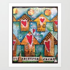 Home is Where Love Lives Art Print