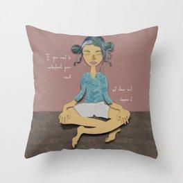 sit down! Throw Pillow