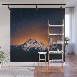 Mountain Range Under the Sunset - Nature Photography Wall Mural