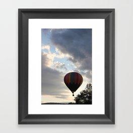 Adrift Amongst the Clouds Framed Art Print