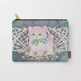 Kitschy Pearl Kitten Carry-All Pouch