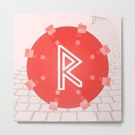 Motion. Raidho rune Metal Print