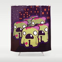 Zombie Invasion Shower Curtain