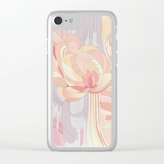 Floral Drip Clear iPhone Case