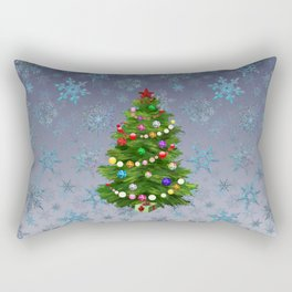 Christmas tree & snow v.2 Rectangular Pillow