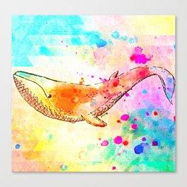 Colorful Whale Canvas Print