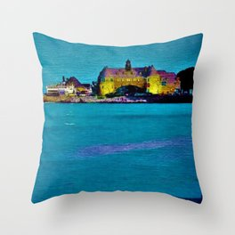 Narragansett Towers, Rhode Island Landscape by Jeanpaul Ferro Throw Pillow