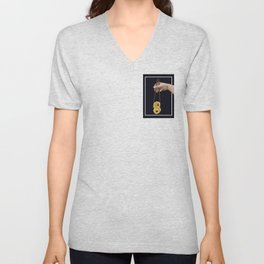 Lussebulle with chopsticks Unisex V-Neck