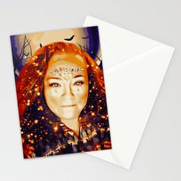 Goddess Morrigan (Painting) Stationery Cards