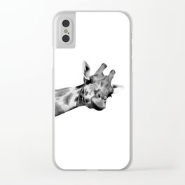 Black and white giraffe Clear iPhone Case