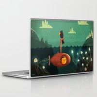 yellow submarine Laptop & iPad Skins featuring Submarine by Ilias Sounas