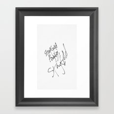 Stay Gold Framed Art Print