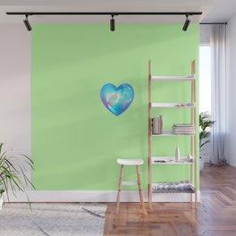 Crystal Heart Solo Version - Green BG Wall Mural