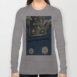 Vintage poster - Navy accidents Long Sleeve T-shirt