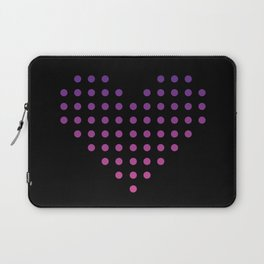Gradient Heart of Dots Laptop Sleeve